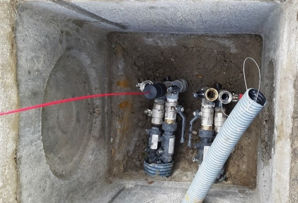 Image Distributed temperature sensing cable for geothermal monitoring, Italy