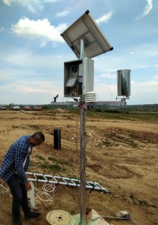 weather station and photovoltaic cell